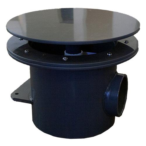 AquaDyne Rhino II Bottom Drain - 4 inch WITHOUT Air Bladder Diffuser
