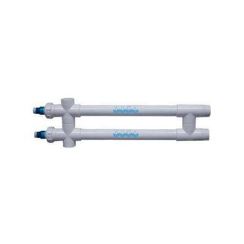 "Aqua Ultraviolet Classic 80 Watt UV Sterilizer 2"" White 2/L 2-Inline Transformers 220V/60Hz"