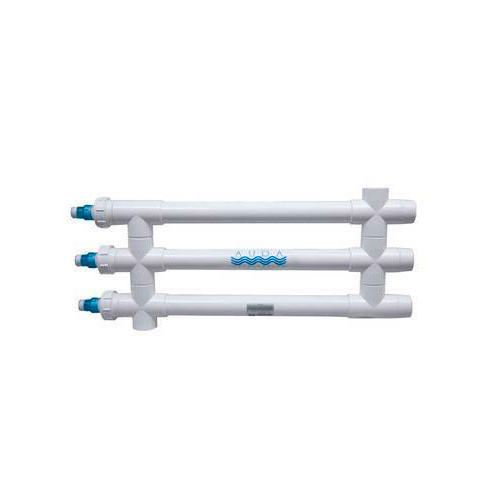 "Aqua Ultraviolet Classic 120 Watt UV Sterilizer 2"" White 3/L 3/Inline Tranformers 220V/60Hz"
