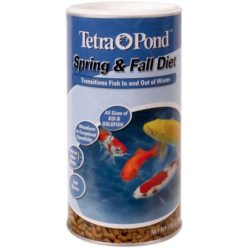 Tetra Pond Spring & Fall Diet Wheat Germ Fish Food - 7.05 oz.