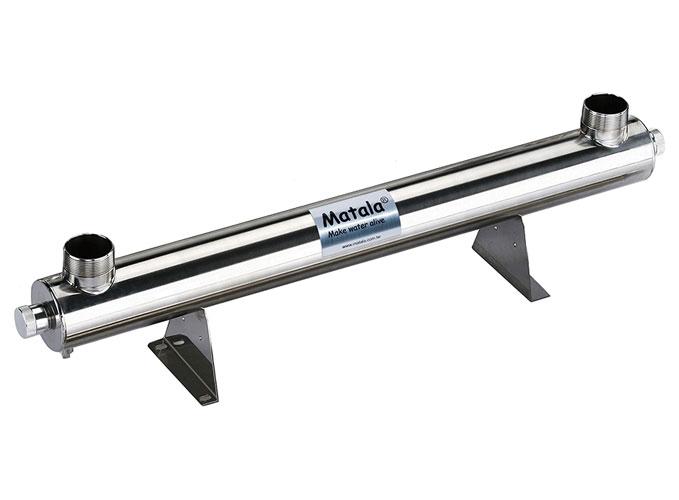 "Matala Spectrum 40 Watt Stainless Steel UV-C Sterilizer -2"" (with 2"" Unions)"