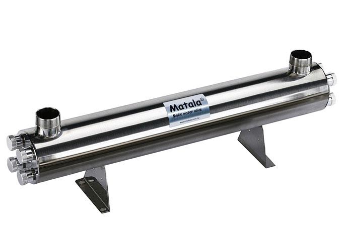 "Matala Spectrum 300 Watt Stainless Steel UV-C Sterilizer -2"" (with 2"" Unions)"