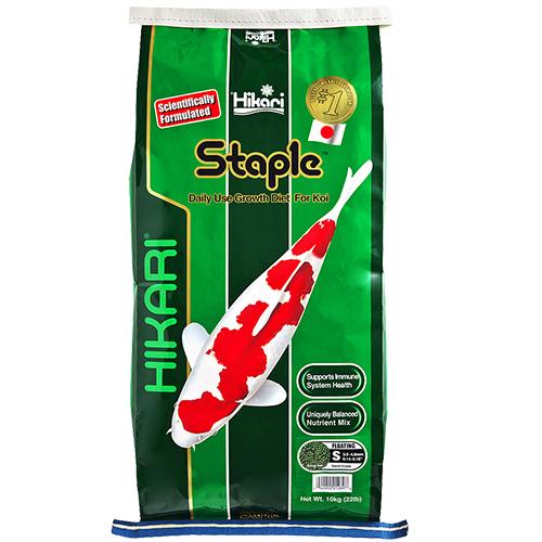 Hikari Staple Koi Fish Food - 22 lbs.(Medium Pellets)