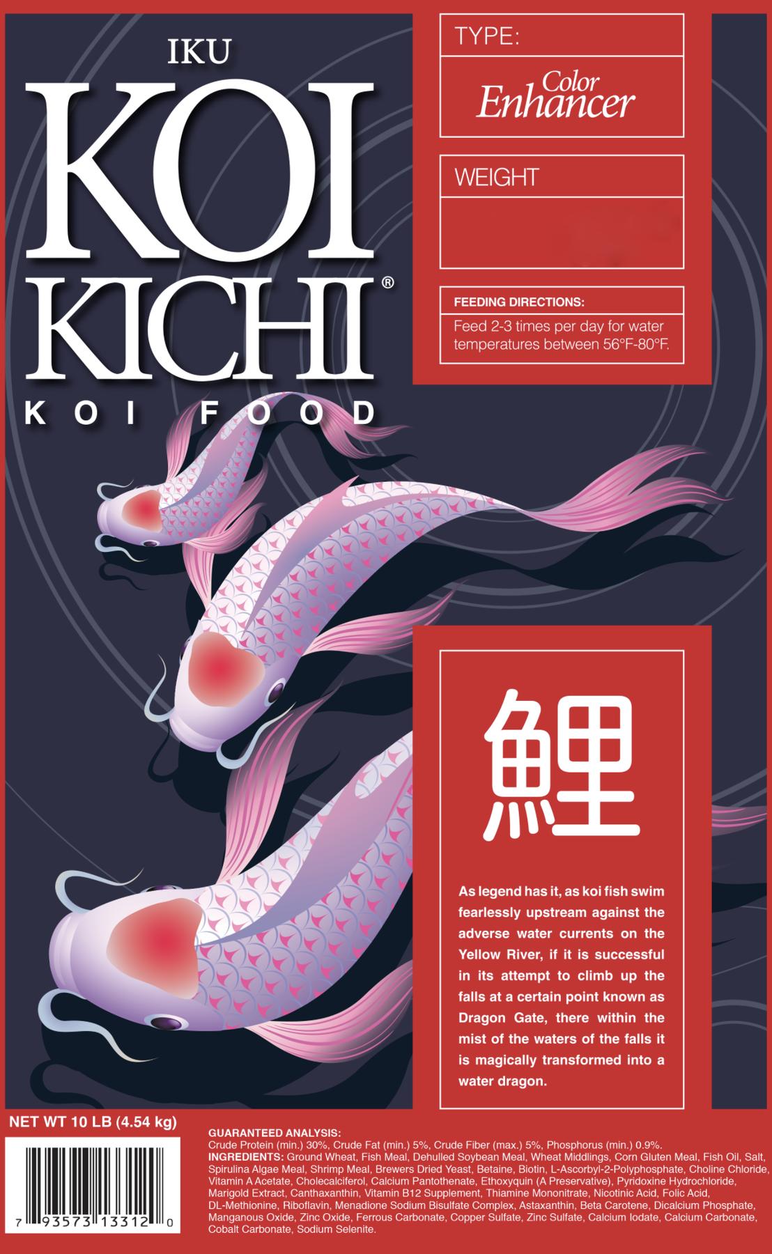Iku Koi Kichi Color Enhancer Koi Fish Food - 16 lbs. (Bucket)