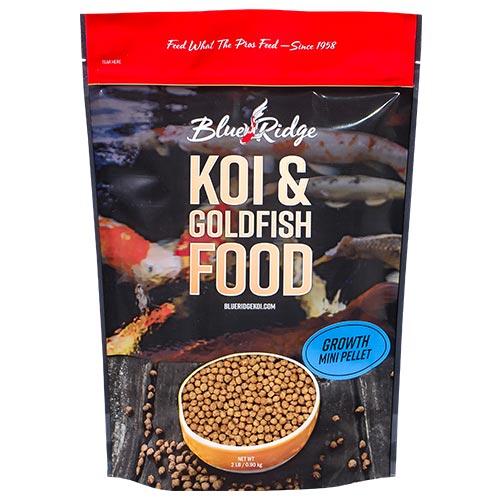 Blue Ridge Growth Koi Fish Food - 2 lbs. (Mini Pellet)
