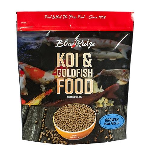 Blue Ridge Growth Koi Fish Food - 5 lbs. (Mini Pellet)
