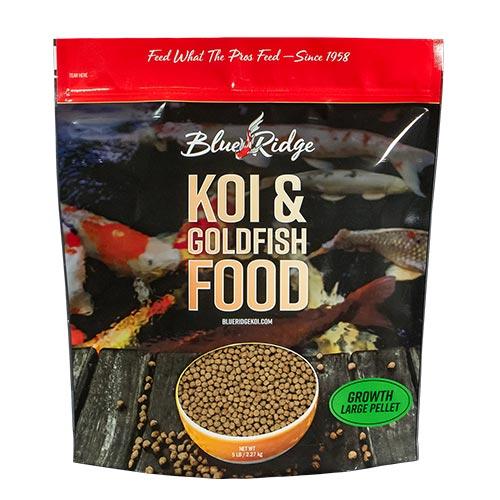 Blue Ridge Growth Koi Fish Food - 5 lbs. (Large Pellet)