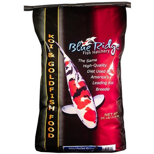 Blue Ridge Growth Koi Fish Food - 25 lbs. (Mini Pellet)