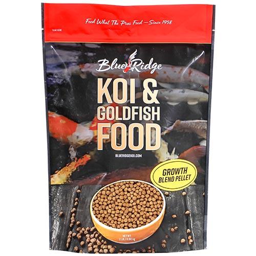 Blue Ridge Blend Koi Fish Food - 2 lbs. (Large & Mini Pellet Mix)