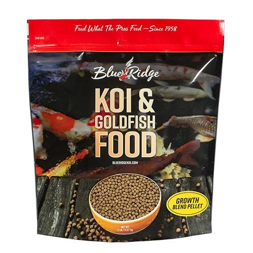 Blue Ridge Blend Koi Fish Food - 5 lbs. (Large & Mini Pellet Mix)