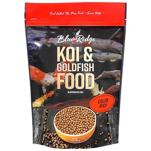 Blue Ridge Color Rich Koi Fish Food - 24 lbs. (2 x 2 lbs.)(Large Pellet)