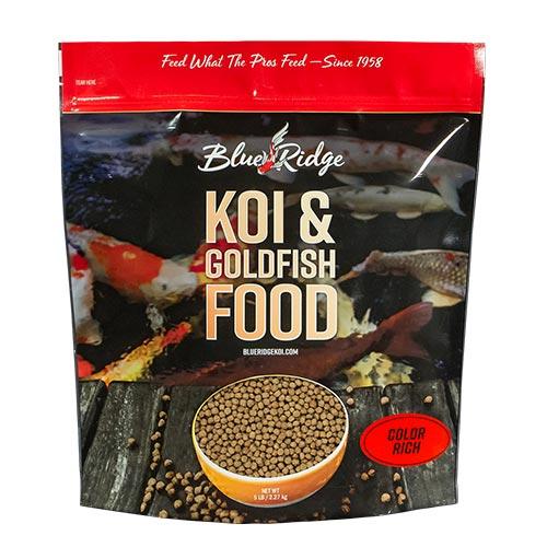 Blue Ridge Color Rich Koi Fish Food - 5 lbs. (Large Pellet)